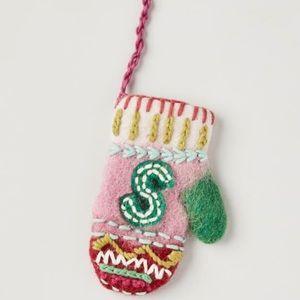 "Anthropologie ""S"" Christmas Monogram Ornament 🎄"